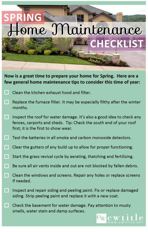 Looking Forward to Spring  |  Home Maintenance Tip